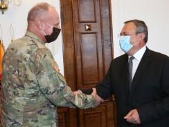 Comandantul Comandamentului NATO pentru Operații Speciale, la sediul MApN